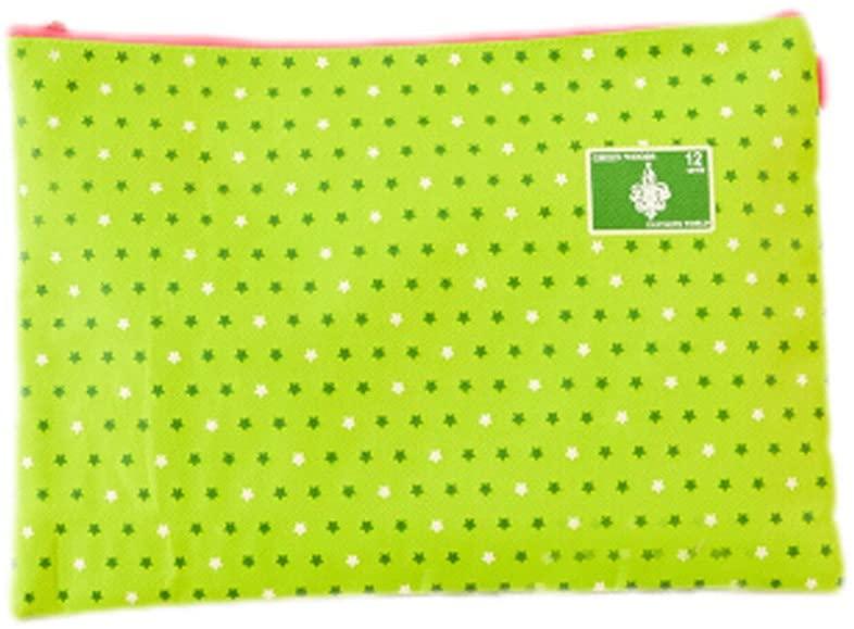 3Pcs A4 File Pockets File Jackets File Folders Pocket Folders, Stars, Green