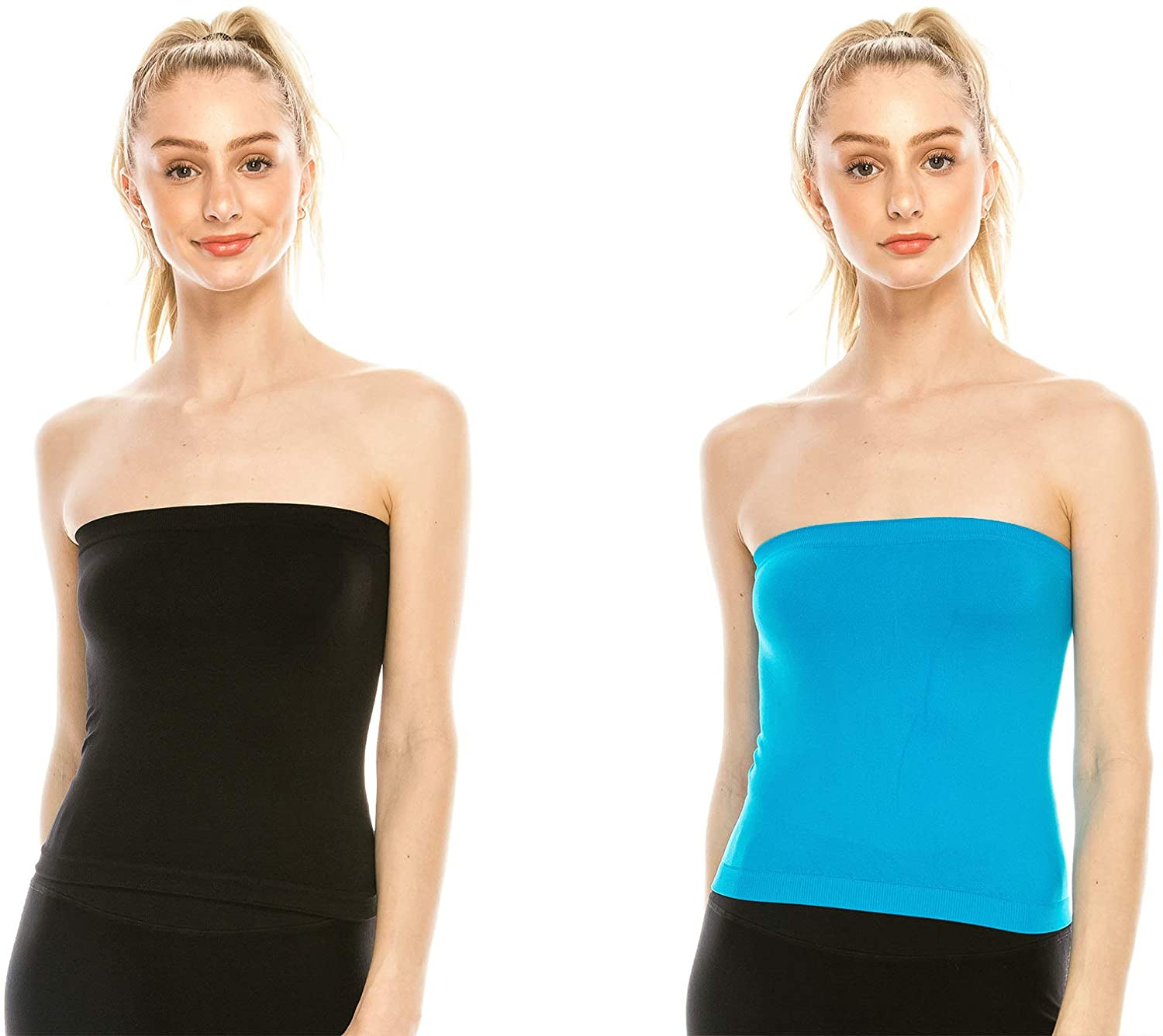 THE TUBE TOP Mini Bandeau Strapless Tube Top, UV Protective Fabric, Rated UPF 50+, Made in USA