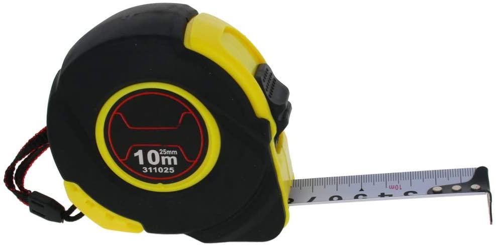 Utoolmart 10M Long Measuring Tape Plastic Round Case Retractable Measure Tape 1Pcs