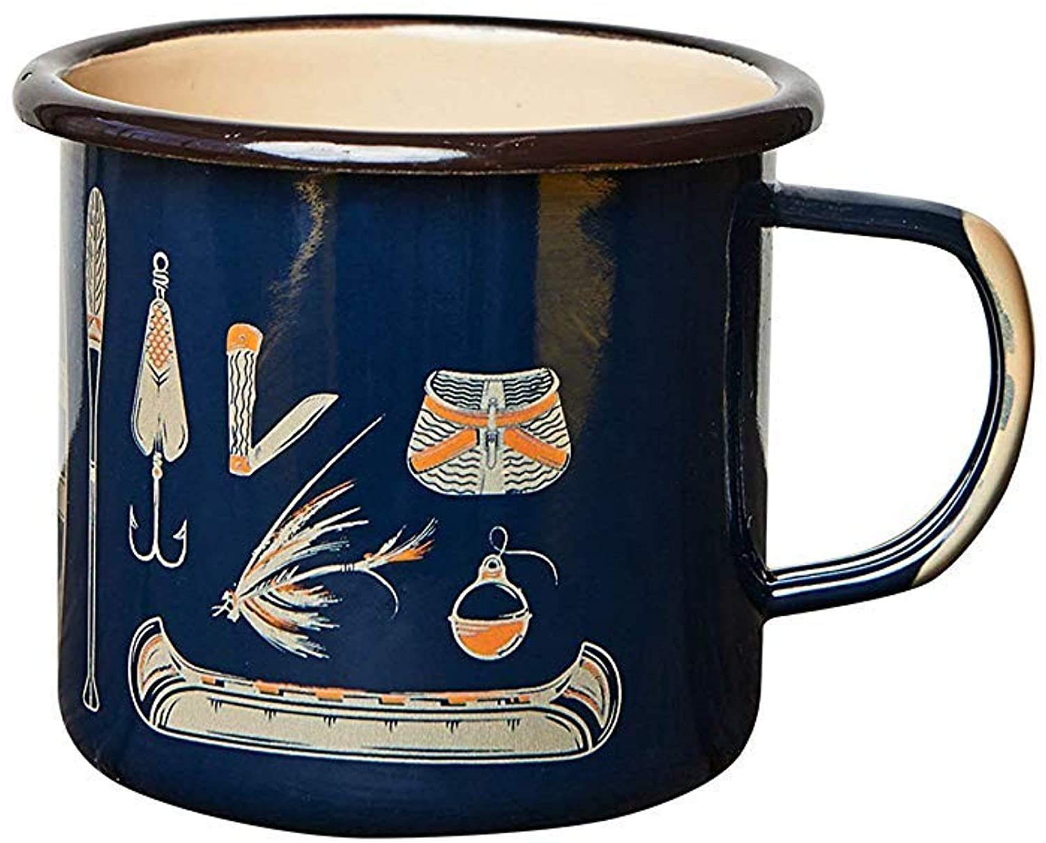 United By Blue - 12oz Enamel Steel Mug - Great for Coffee, Tea, Camping - Hand Dipped - Campfire and Stovetop Safe…