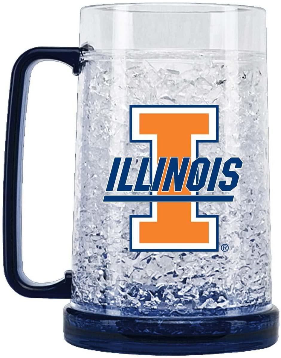 NCAA Illinois Fighting Illini 16oz Crystal Freezer Mug