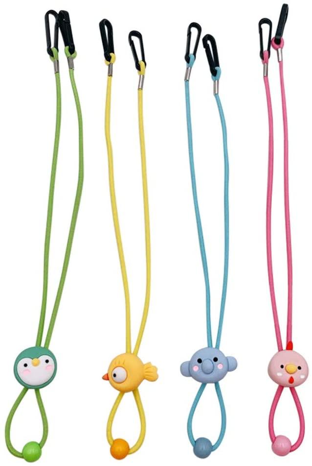 4PCS Ear Holder Rope, Elastic Mask Strap, Mask lanyard String Cord Holder Earloop Cord Ear Tie Rope(Assorted Colors )