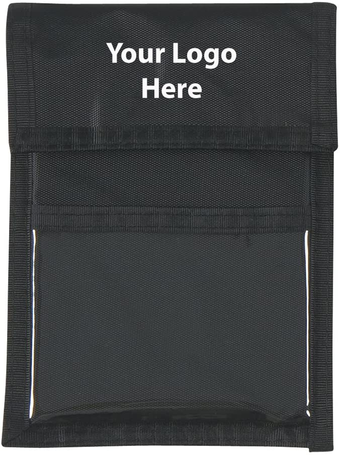 Nylon Neck Wallet Badge Holder - 100 Quantity - $2.75 Each - Promotional Product/Bulk/Branded with Your Logo/Customized