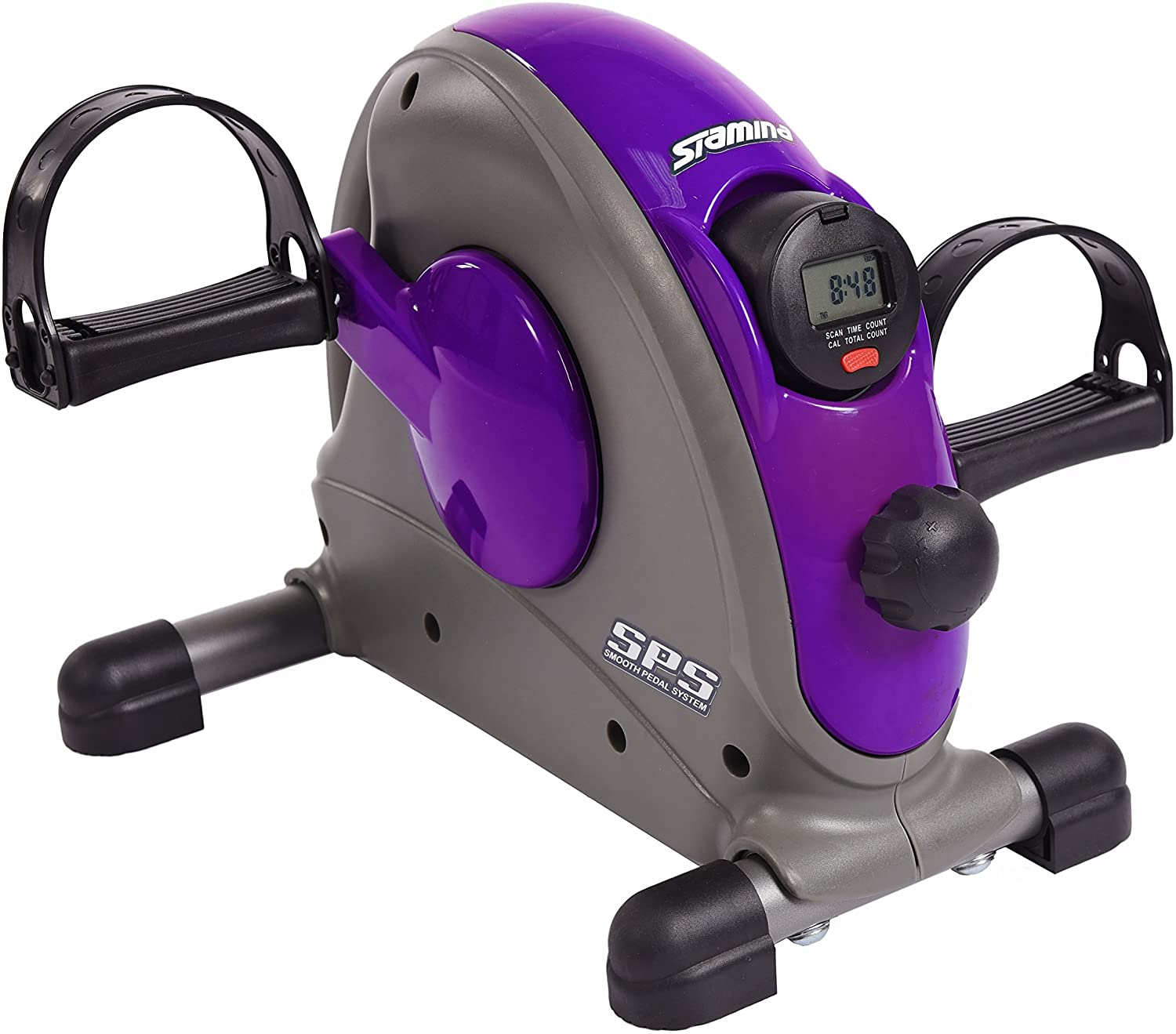 Stamina Mini Exercise Bike with Smooth Pedal System, Purple