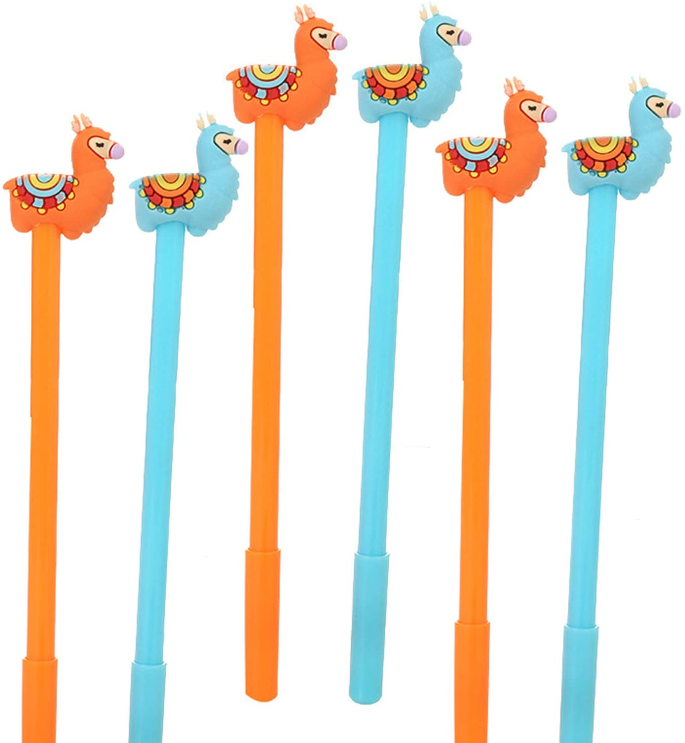 WIN-MARKET Animal llama Alpaca Sheep Camel Gel Pens Set Fashion Cute Colorful Kawaii Lovely Colorful Gel Ball Pens Office School Supply Stationery pen(6PCS)