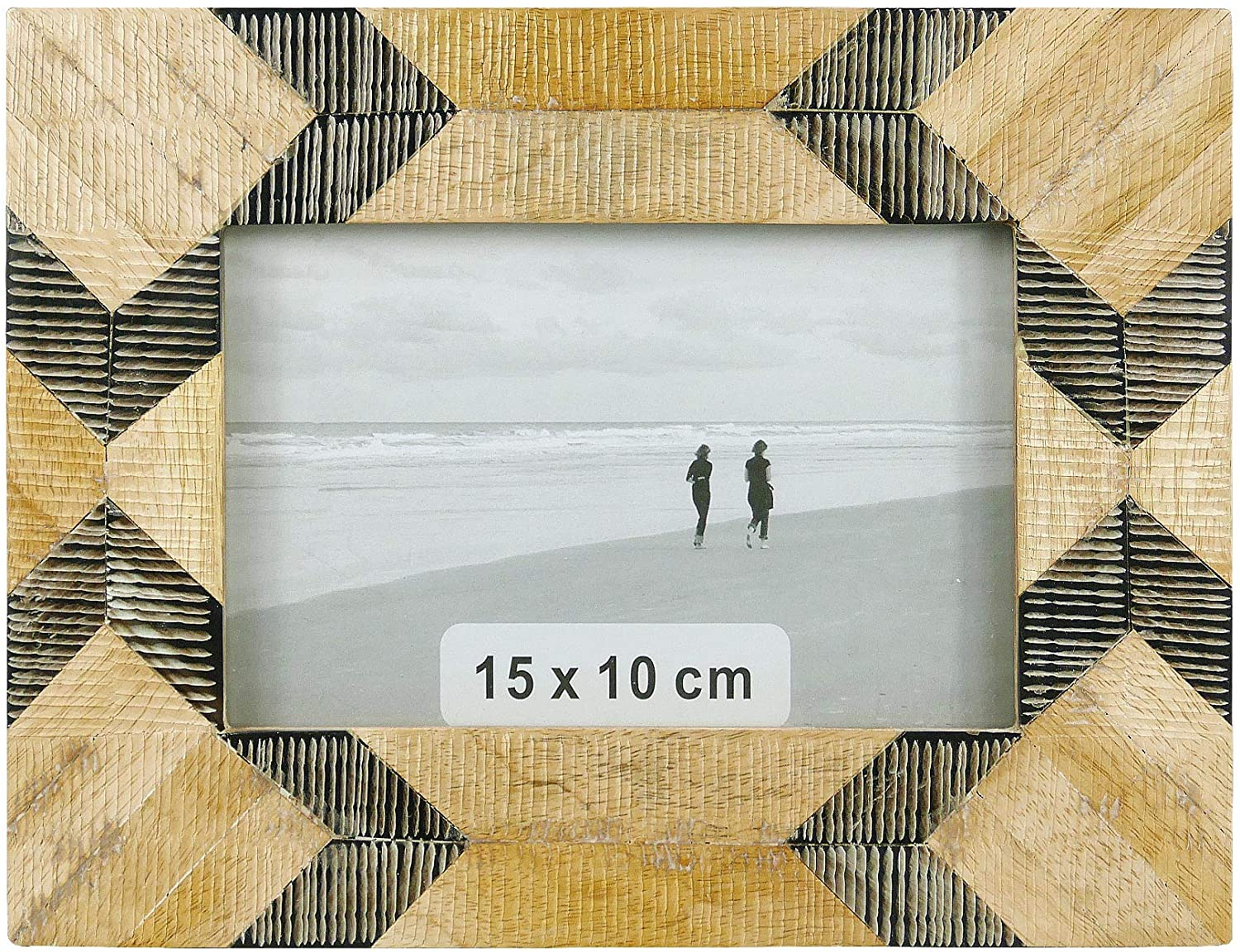 NIKKY HOME Wooden Photo Picture Frame 4x6 Boho Style Mango Wood for Tabletop Display