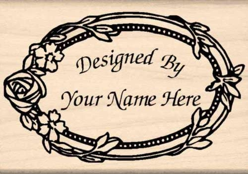 Custom Made & Personalized – Designed by Rubber Stamp – 1-3/4 inches x 2-1/2 inches