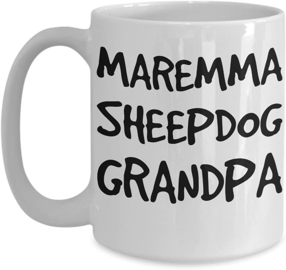 Maremma Sheepdog Grandpa Mug - White 11oz Ceramic Tea Coffee Cup - Perfect For Travel And Gifts