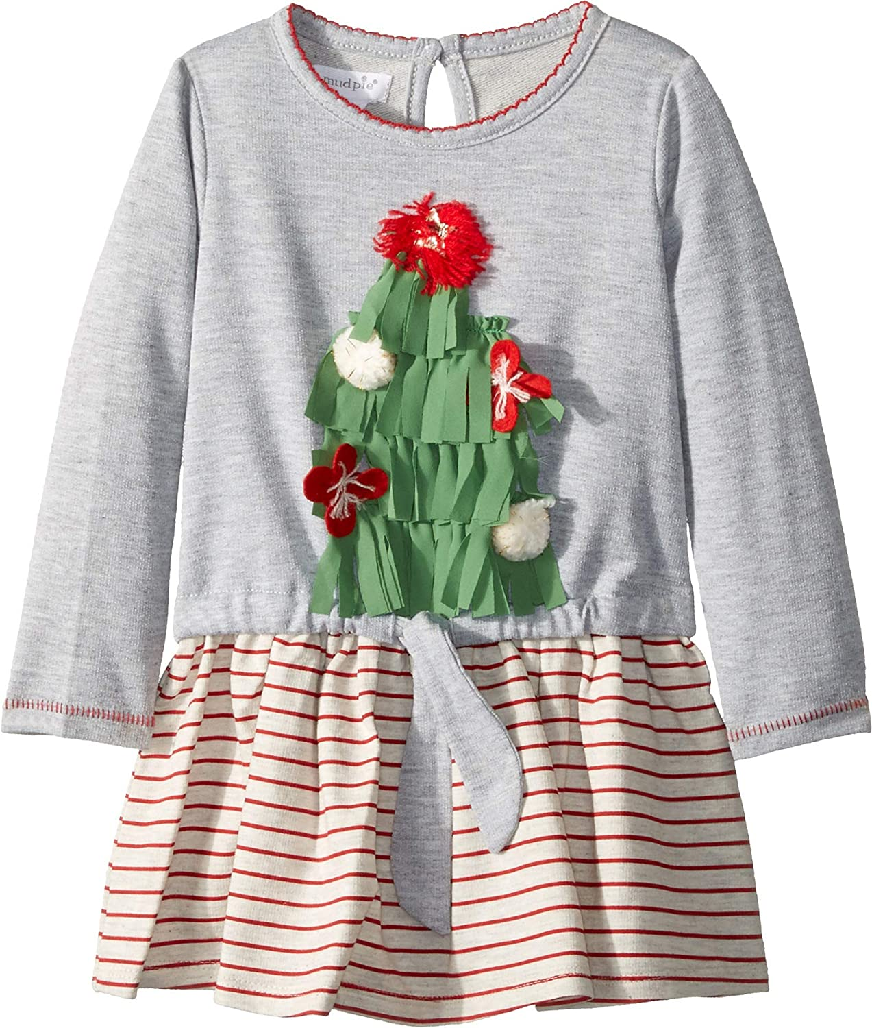 Mud Pie Womens Christmas Very Merry Dress (Infant/Toddler)