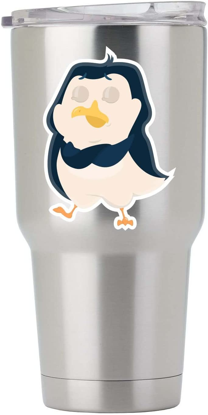 Insulted Penguin Full Color Vinyl Decal for Tumbler