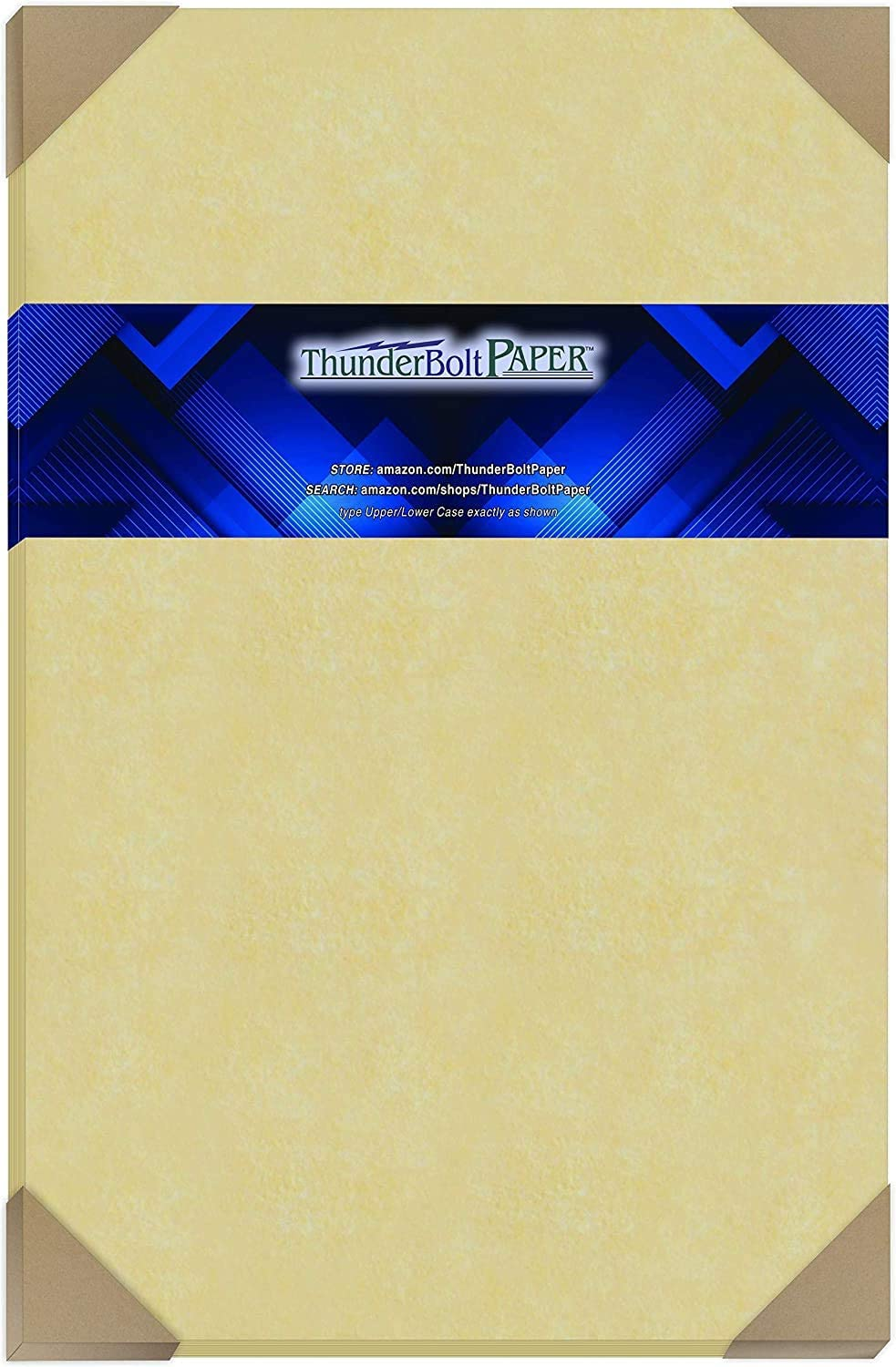 50 Gold Parchment 60lb Text Weight 11 X 17 inches Stationery Paper Colored Sheets Tabloid Ledger Size -Printable Old Parchment Semblance