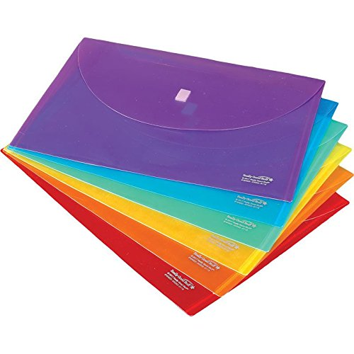 Really Good Stuff Homework Envelopes with Hook and Loop Closures, Grouping Colors, Size: 13
