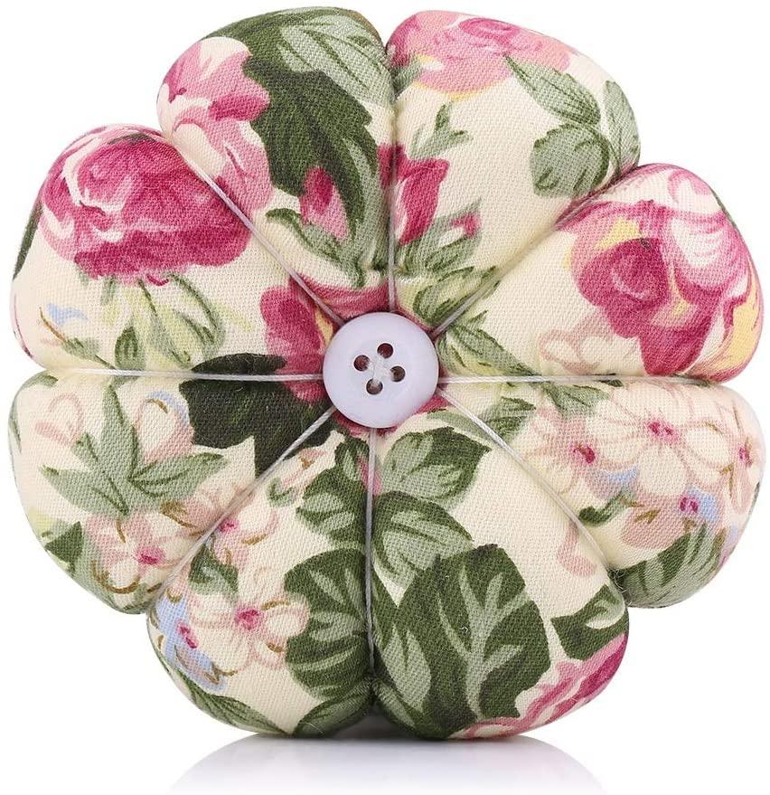 Nikou Pin Cushion - Creative Pumpkin Fabric Sewing Needles Pin Cushion with Elastic Wrist Belt (Size : 4)