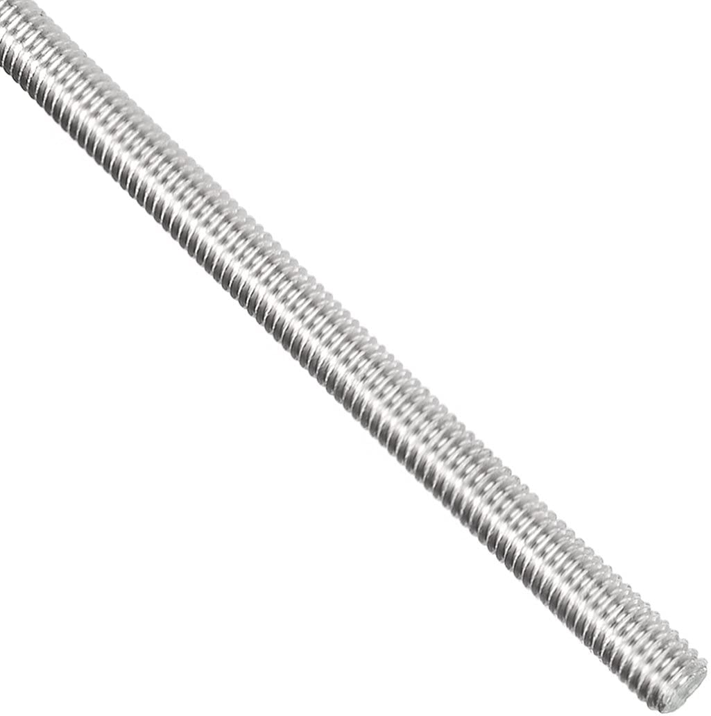 uxcell M4 x 250mm Fully Threaded Rod, 304 Stainless Steel, Right Hand Threads