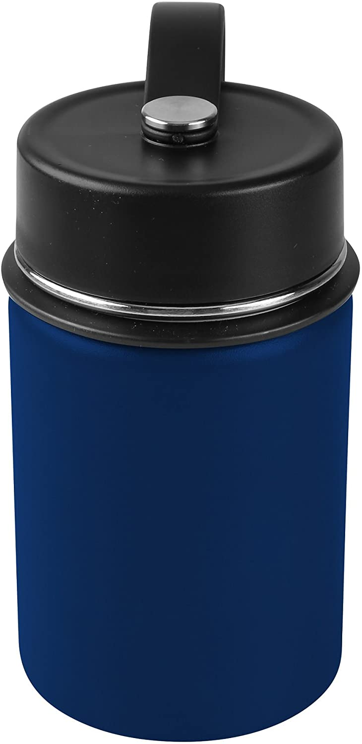 Tahoe Trails 12 oz Double Wall Vacuum Insulated Stainless Steel Water Bottle, Deep Blue