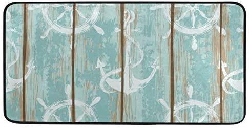 Kitchen Rugs Boards of Ship Deck Nautical Design Non-Slip Soft Kitchen Mats Bath Rug Runner Doormats Carpet for Home Decor, 39
