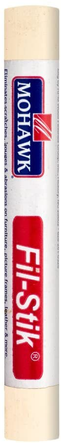Mohawk Fill Stick (Fil-Stik) Putty Stick for Wood Repair (Seafoam Cream)- Rub On Semi-Soft Wax Filler Stick
