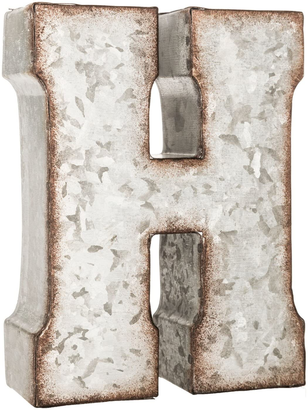 Galvanized Metal 3D Letter H