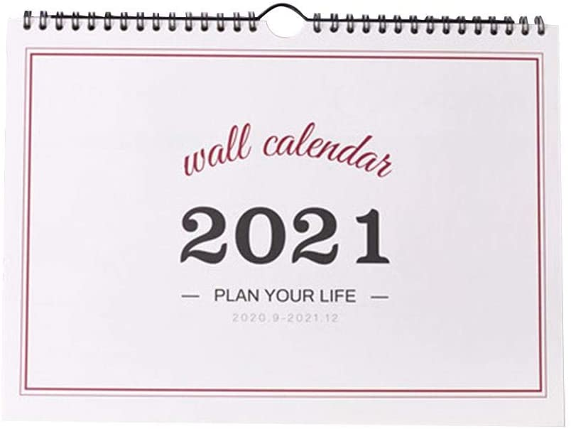2021 Wall Calendar Ins Simple Wall-Mounted Timetable, Plan Description Tearable Wall Calendar, Free Desktop Calendar for Family Planners