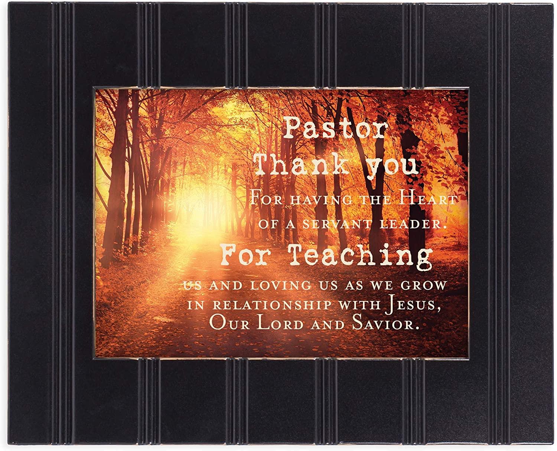 Cottage Garden Pastor Thank You 8x10 Black Framed Art Wall Plaque Sign