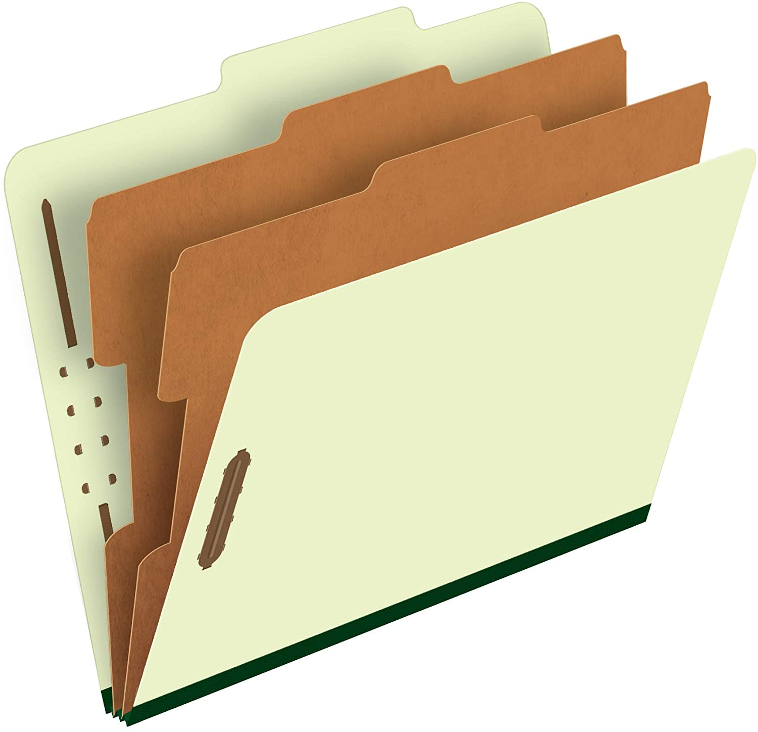 Pendaflex Classification Folders – 2 Dividers, Light Green, Letter, 10/BX (17173)