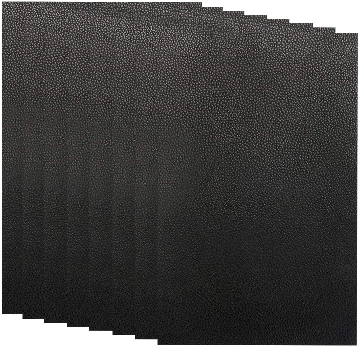 8 Pieces Leather Repair Patches, First-aid for Sofas Car Seats, Handbags Jackets, 8-inch by 12-inch, Black