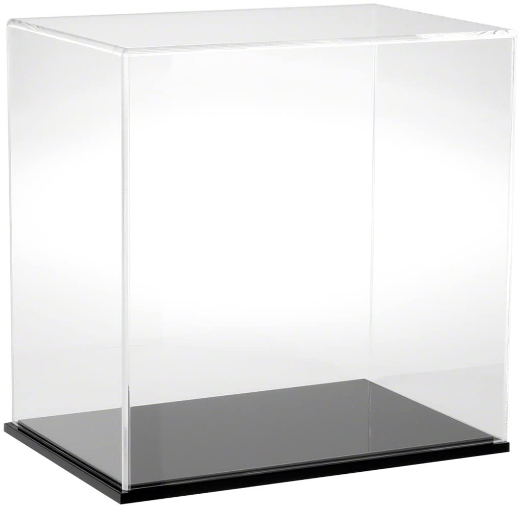 Plymor Clear Acrylic Display Case with Black Base, 12