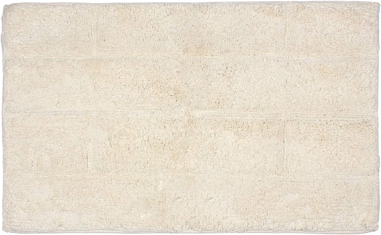 Rectangular Soft Cotton Ivory Bath Rug - Mat for Bathroom, Shower, Bath Tub, Sink, Toilet -(L-34 X W-21)- Ivory