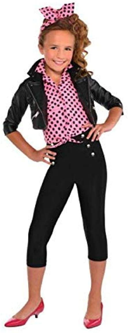 amscan Greaser Girl 50s Costume | Small (4-6) | 2 Ct.