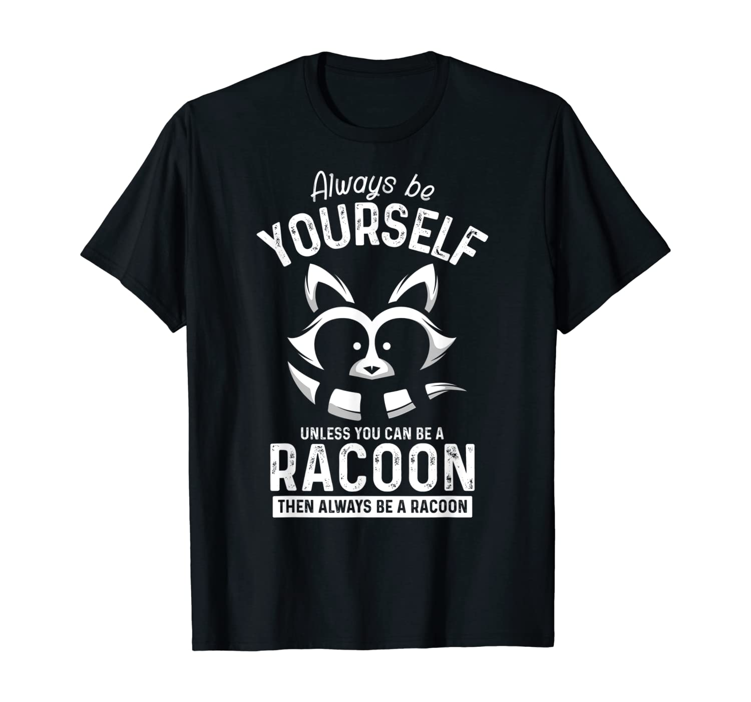 Funny Animal Gift Idea Cute Adorable Men Boys Kids Racoon T-Shirt