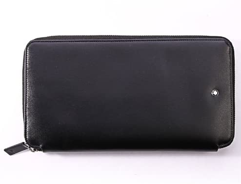 Mont Blanc Black Travel Currency Wallet (16352)