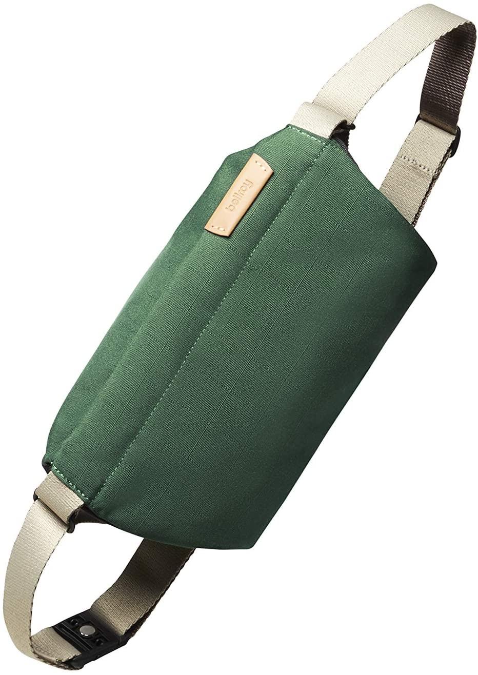 Bellroy Mini Sling Bag (Slim Crossbody Bag for Men & Women, Lightweight Water-Resistant Woven Materials, Multiple Organization Compartments) - Forest