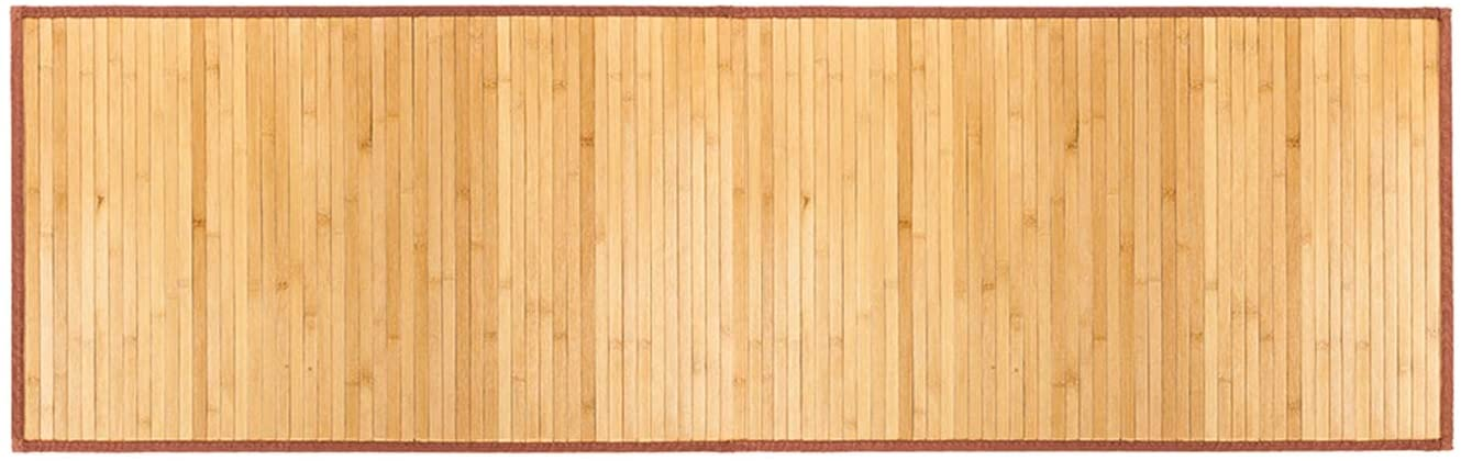 LeafRed C Natural Bamboo Bath Shower Mat - Non Slip Waterproof Large Bathroom Floor Mat for Indoor and Outdoor, Natural, 21