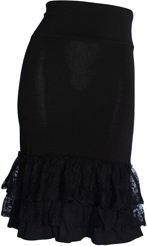 Peekaboo-Chic Classy vs Sassy Half Slip Skirt Extender - Lace Ruffle Skirt Extender - Skirt Extenders for Women
