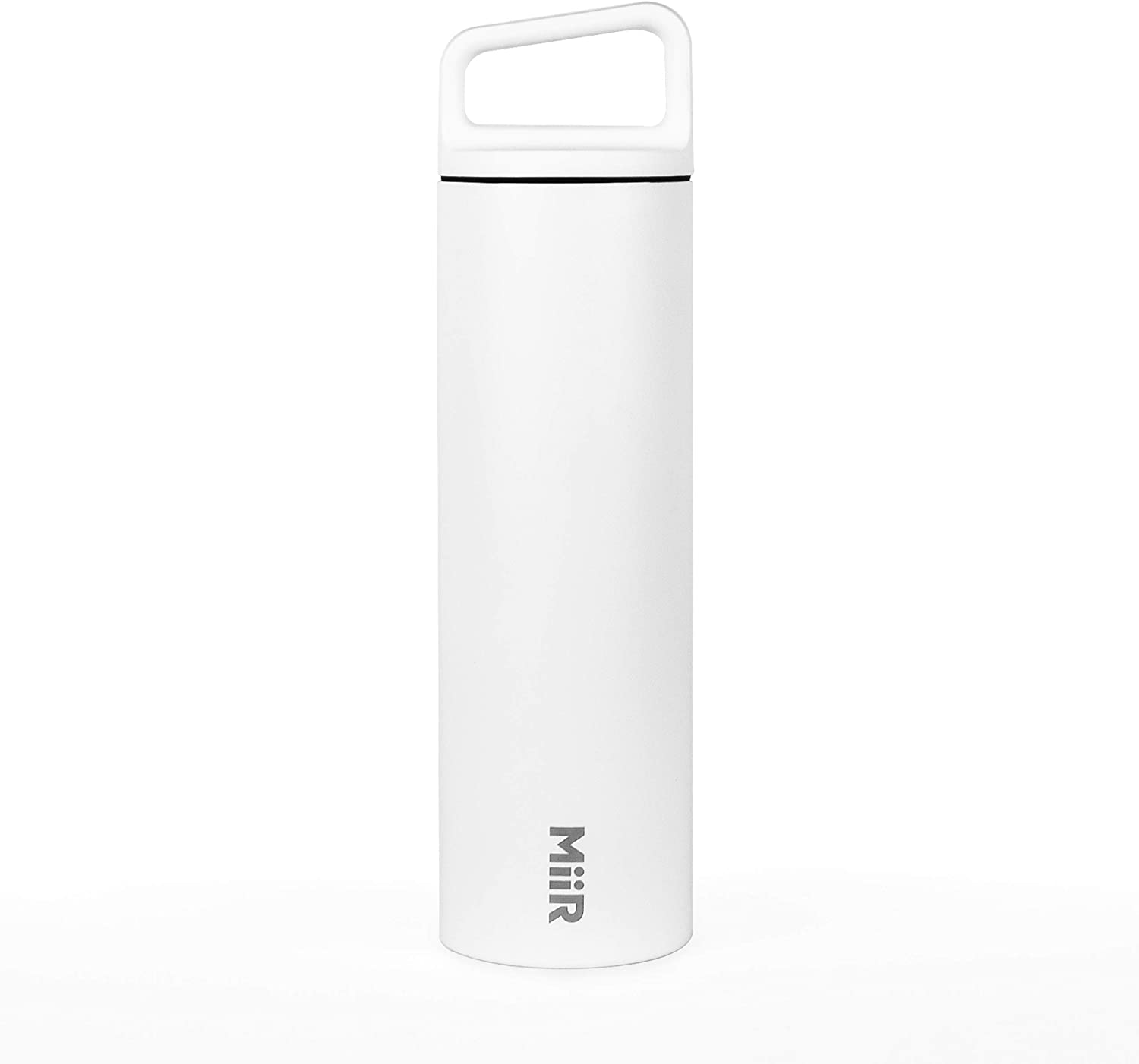 MiiR Insulated Wide Mouth Bottle with Leak-Proof Screw Top Lid - 20oz - White