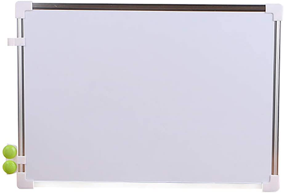WDNM Magnetic Dry Erase Board, 13.65 x 9.75 Inches, Creative Double-Sided Dry Erase Board with Silver Metal Frame (White)