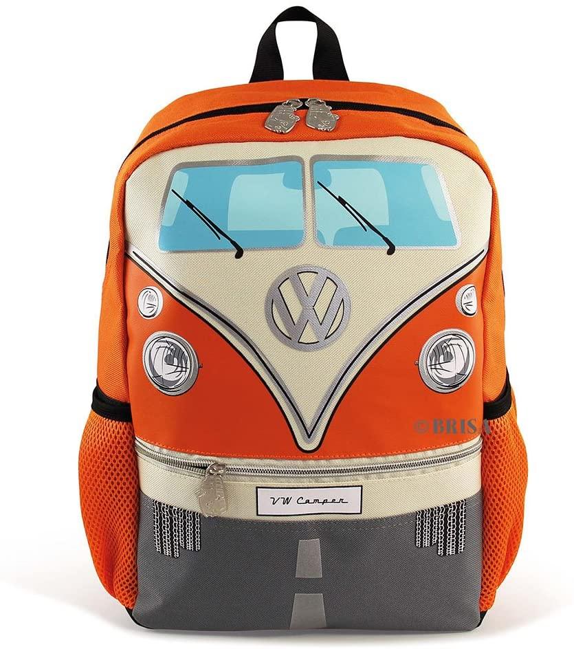 BRISA VW Collection - Volkswagen Samba Bus T1 School, Travel Backpack (S/Orange)