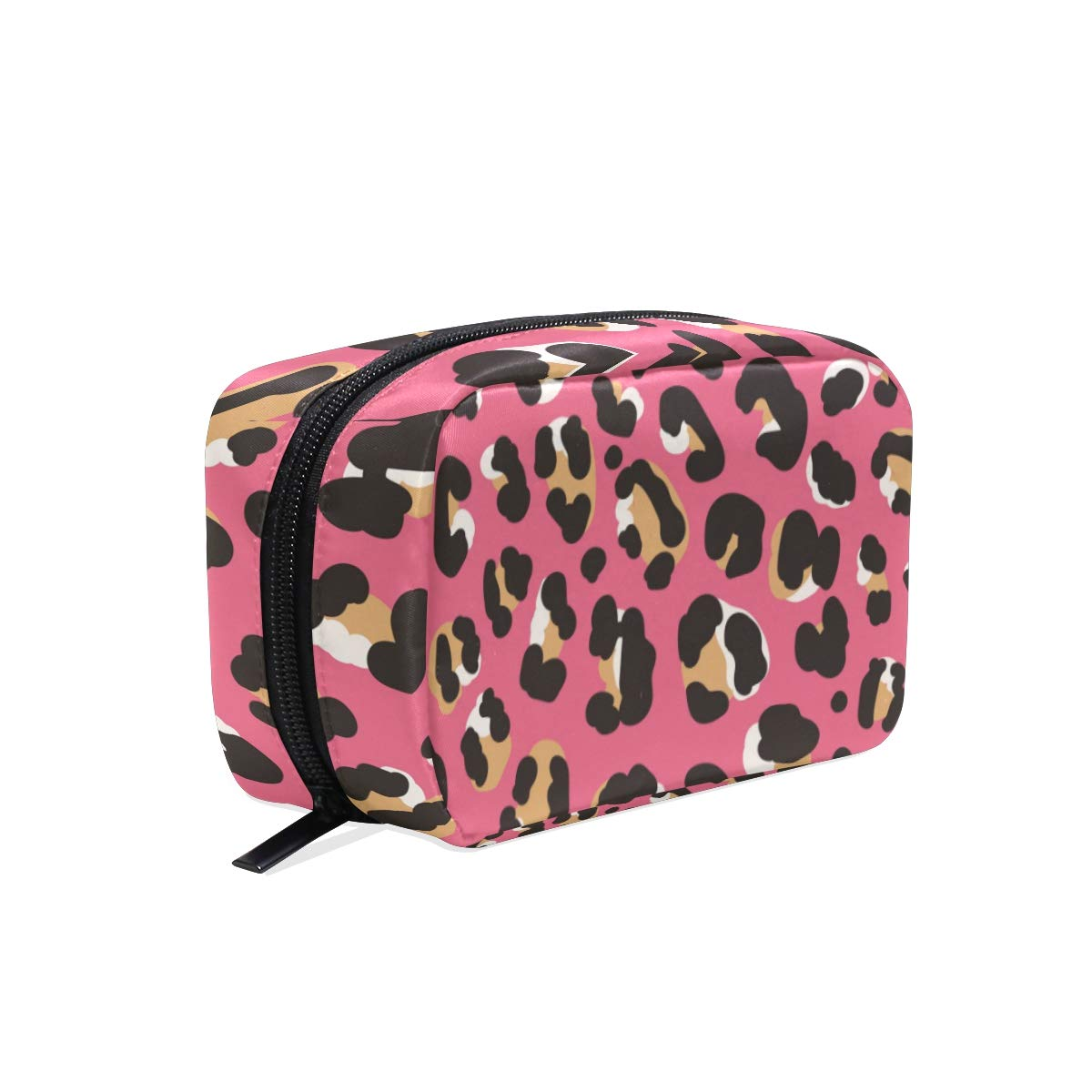 Toiletry Bag Leopard Cosmetic Bag Portable Makeup Bag Pouch Travel Hanging Organizer Bag for Women Girls(831e)