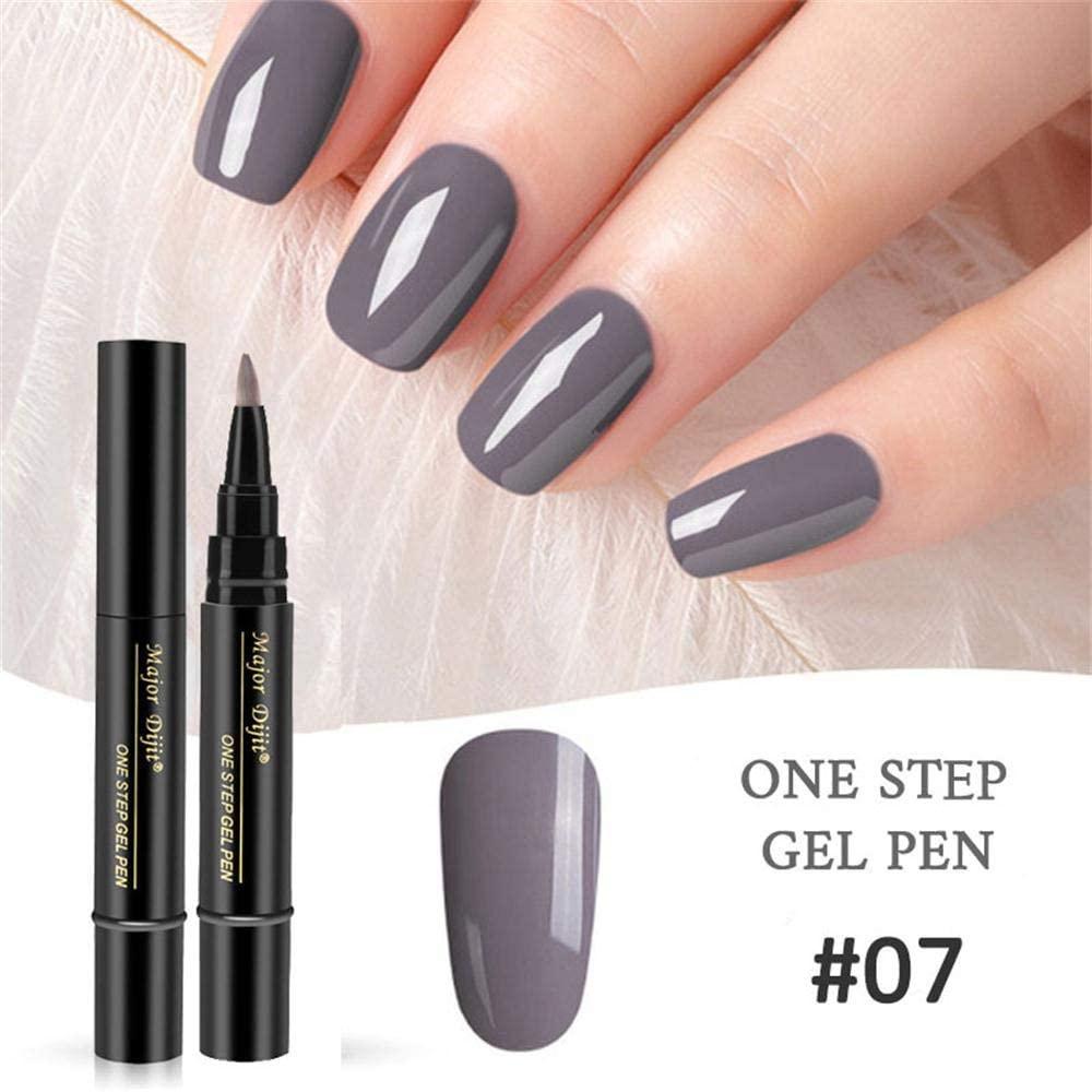 Nail Brush, 1 Piece 3 in 1 Step Nail Polish Painting Paint Pen One Step Nail Using Uv Glue, Manicure One Step Nail Polish Gel Pencil