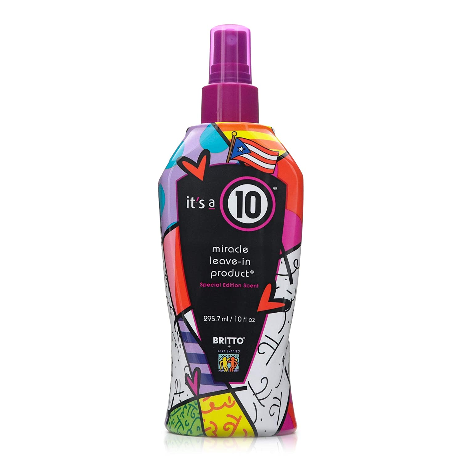 Its a 10 Haircare Limited Edition Miracle Leave-in Product, Designed by Romero Britto, 10 fl. oz.