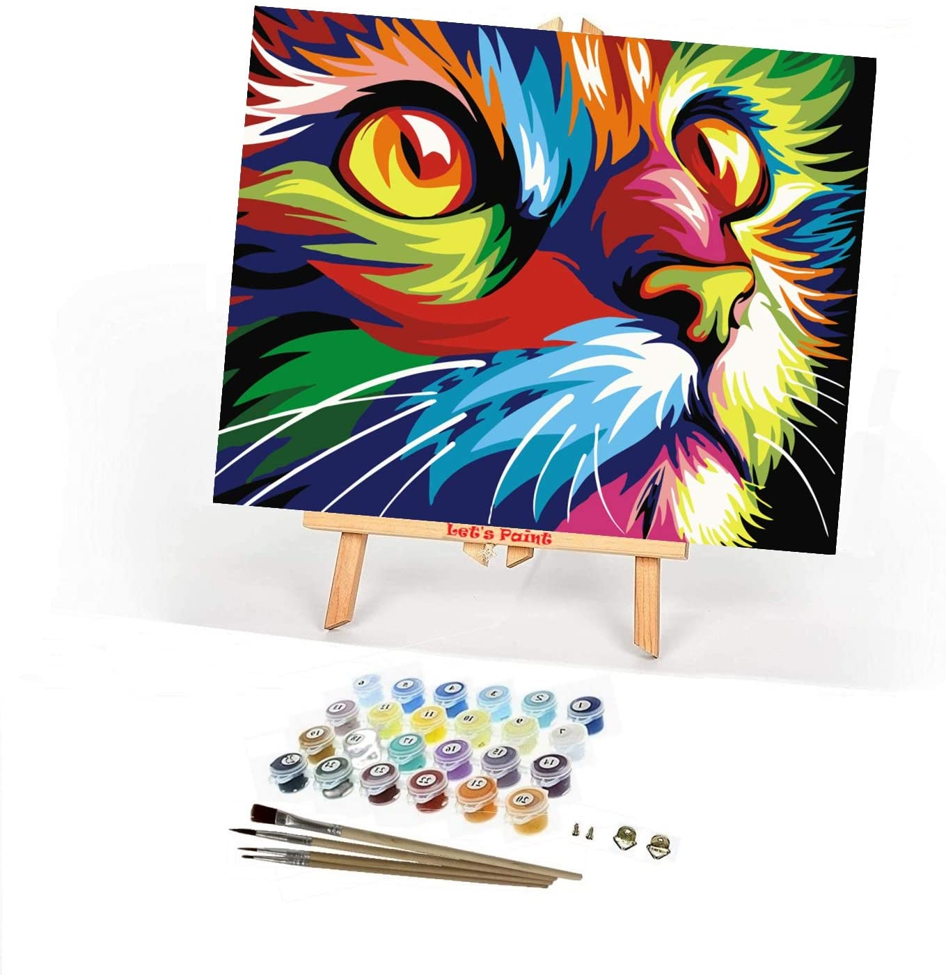 LET'S PAINT by Numbers - Paint by Numbers for Adults & Beginners, Paint by Numbers Framed Canvas 16