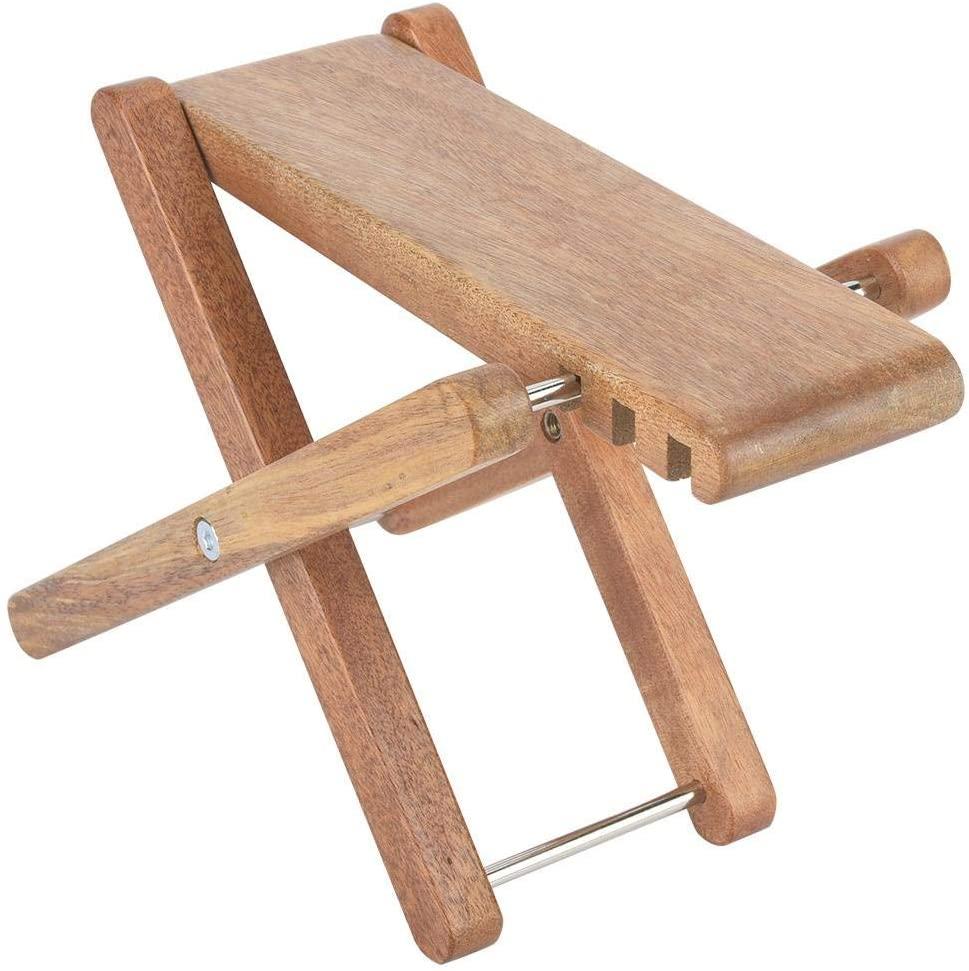 Guitar Foot Rest Stool,3-Level Adjustable Wood Guitar Foot Stool Guitar Pedal Stand for Guitar Accessory