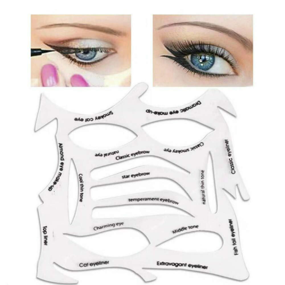 Quick Make-Up Stencils, eyebrows, eye shadow. A makeup tool with a variety of shapes.