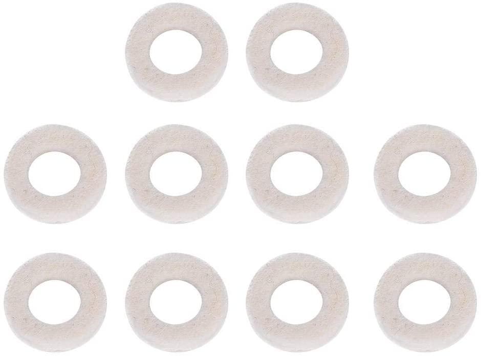 Trumpets Musical Instrument Accessory, 10PCS Top Cap Cushion Pad Trumpet Valve Felt Washers(1.8cm / 0.9cm /0.4cm)