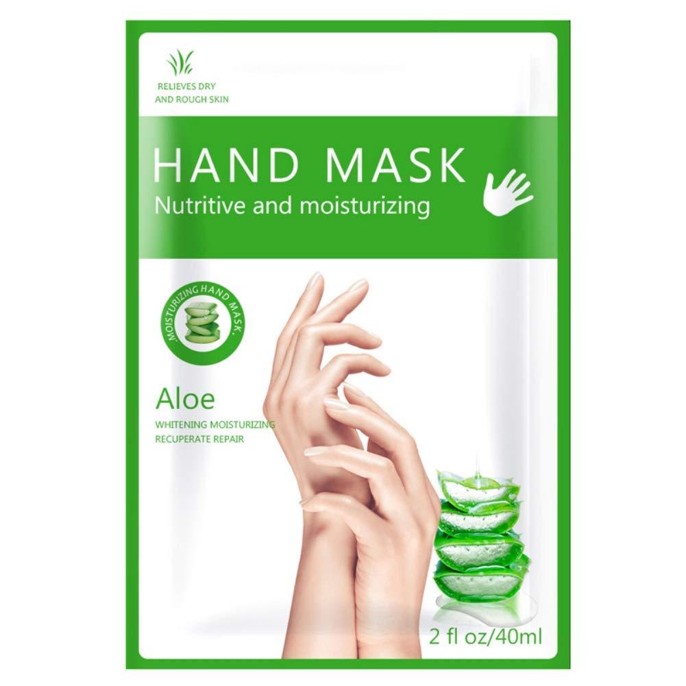 Ofanyia Aloe Vera Hand Mask Moisturizing Spa Gloves for Dry Hands, Exfoliating Hand Peeling Mask, Repair Rough Skin Remove Dead Skin for Women Men