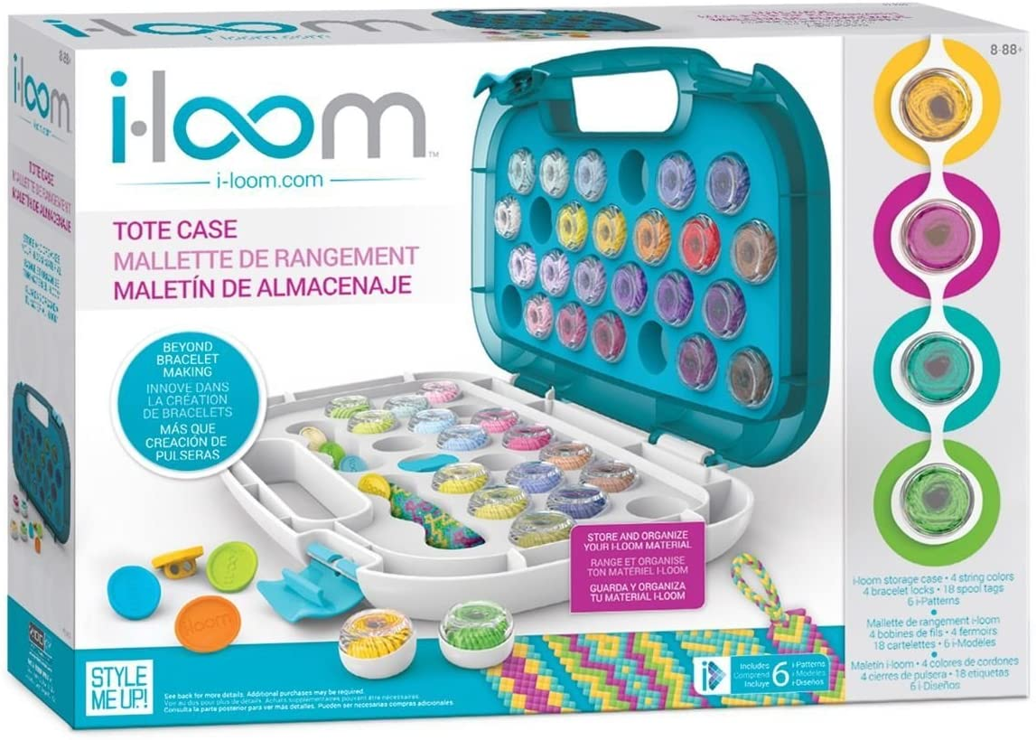 Style Me Up - I-Loom Bracelet Maker Tote Case - Store up to 48 Spools of Strings - SMU-8010