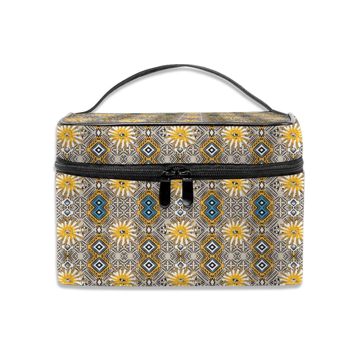 Floral Bohemian Makeup Bag Travel Toiletry BOX Portable Organizer Storage Cosmetic Train Case For Women Girls