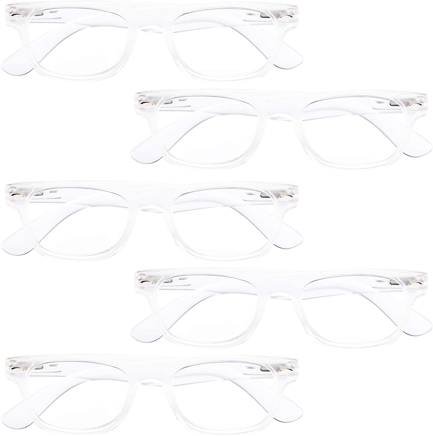BFOCO 5 Pairs Vintage Reading Glasses for Women