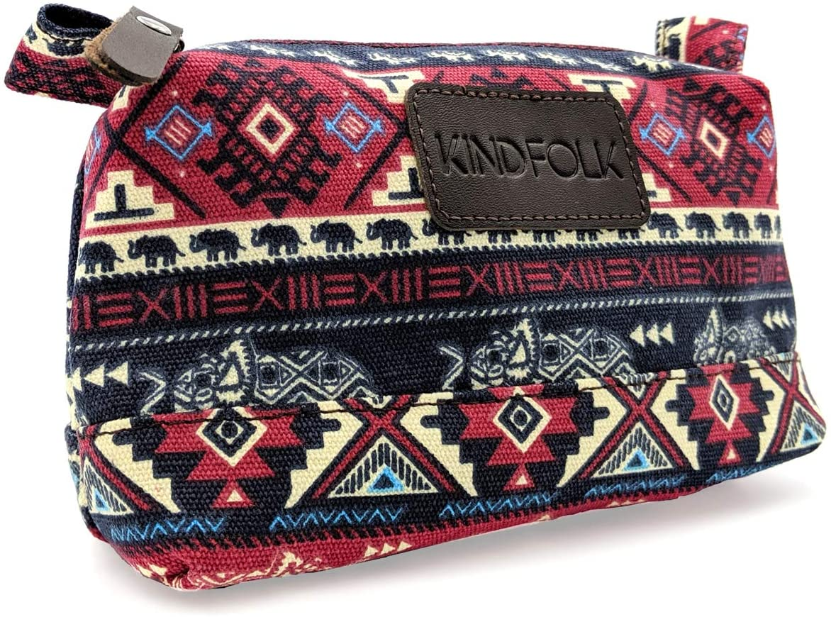Kindfolk Travel Accessory Organizer Pouch for Cosmetics, Toiletries and Cables
