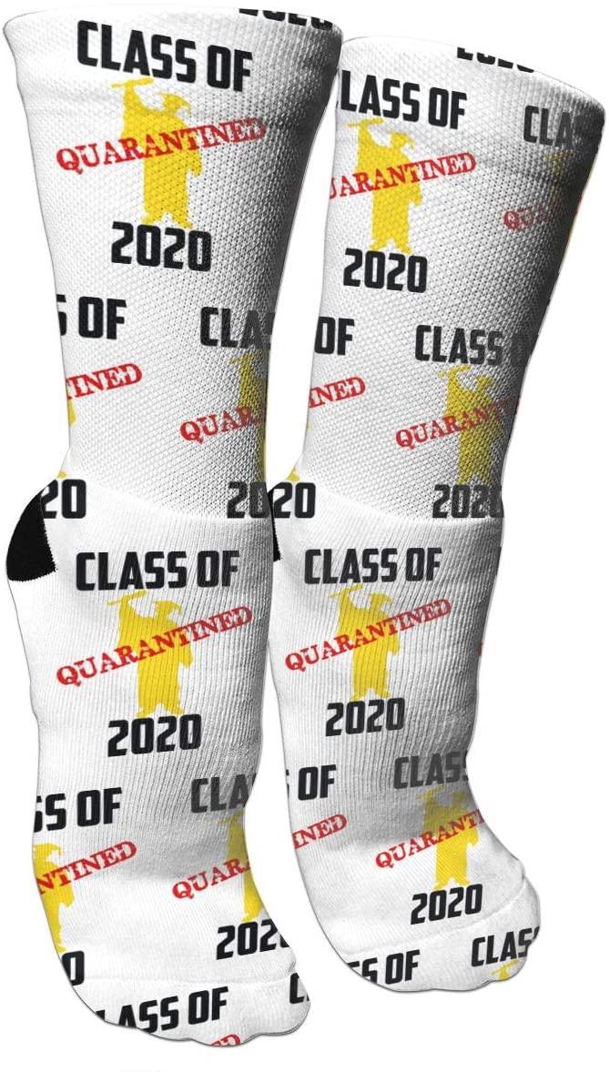 antspuent Class of 2020 Quarantined Graduation Senior Compression Socks Unisex Fun Novelty Crazy Dress Crew Socks